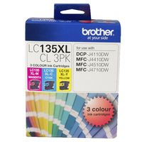 Brother Ink Cartridge LC135XL (3 Colour Pack)