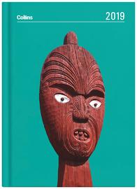 Collins 2019 Daily A5 Diary - Maori Toanga (Aqua)