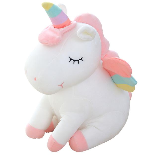 Sleeping Unicorn Plush - White (55cm)