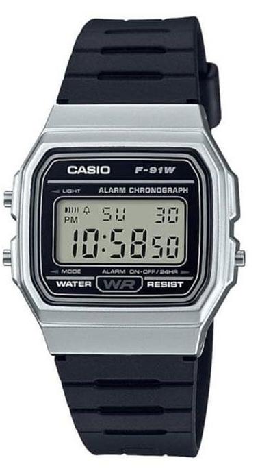Casio Youth Series Watch Black/Silver -F-91WM-1BDF