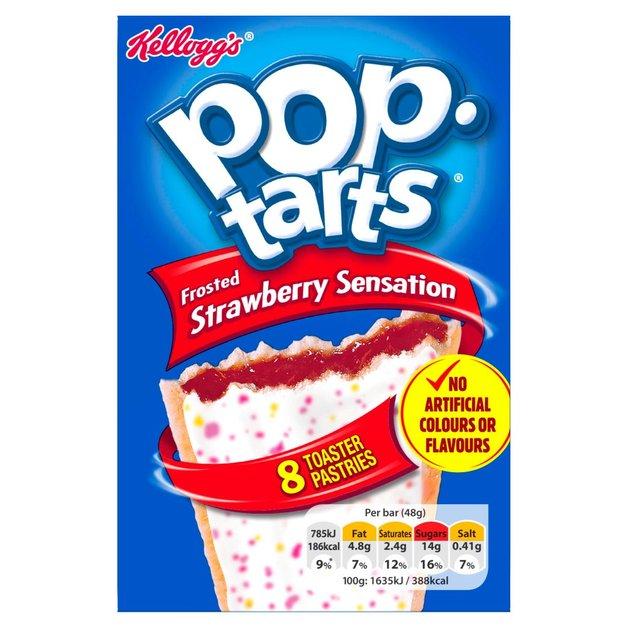 Kelloggs Pop Tarts Strawberry 8pk