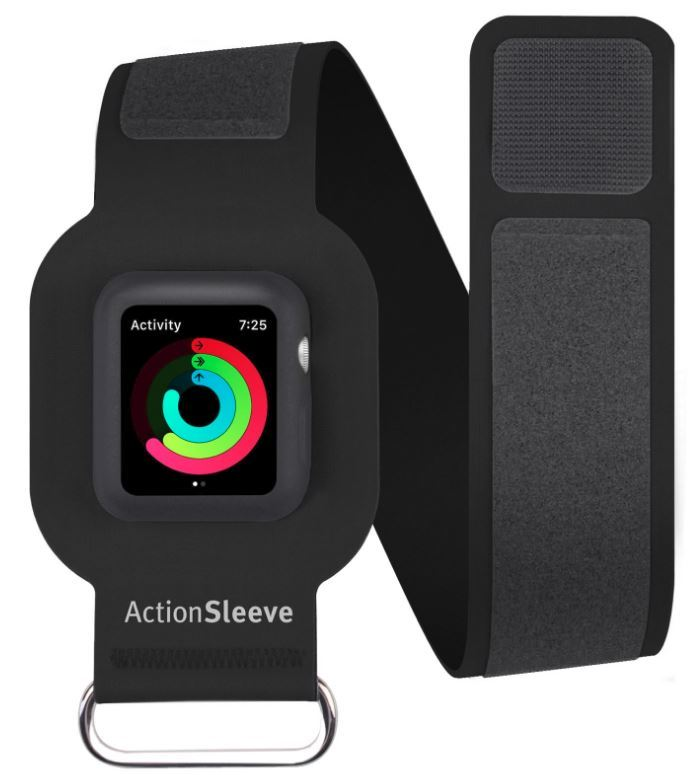 Twelve South ActionSleeve for Apple Watch 42mm - Long (Black) image