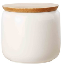 Maxwell & Williams White Basics Canister Bamboo Lid 750ML Gift Boxed