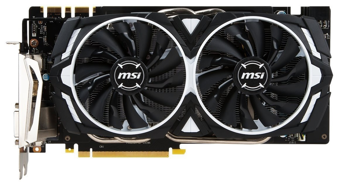 MSI GeForce GTX 1070 Armor OC 8GB OC Graphics Card image