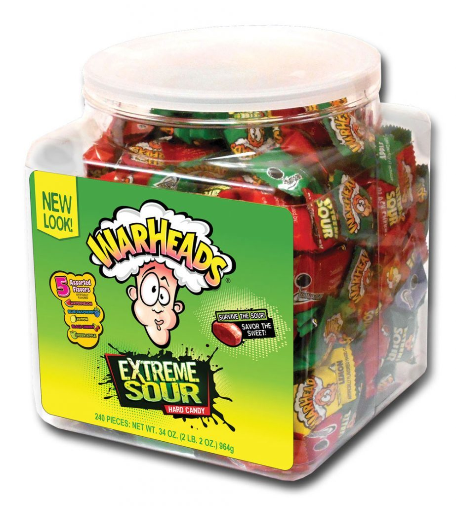 Warheads Extreme Sour Hard Candy Tub (744g) image