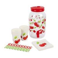 Sunnylife Drink Dispenser Party Kit Cherry