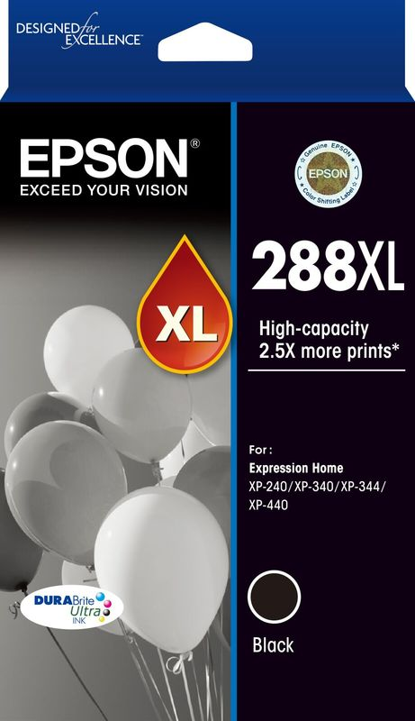 Epson 288XL Black Durabrite Ink