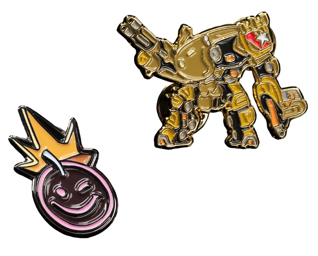 Borderlands 3: Collectible Pin Set - Iron Bear & Smiley