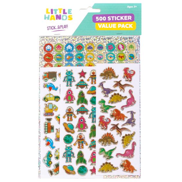 Little Hands: 500 Sticker Pack - Robots (Assorted Designs)