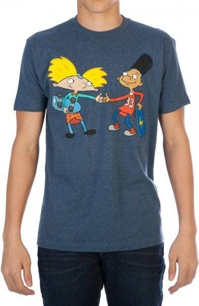 Hey Arnold! - Fist Bump Mens Navy T-Shirt (XL)