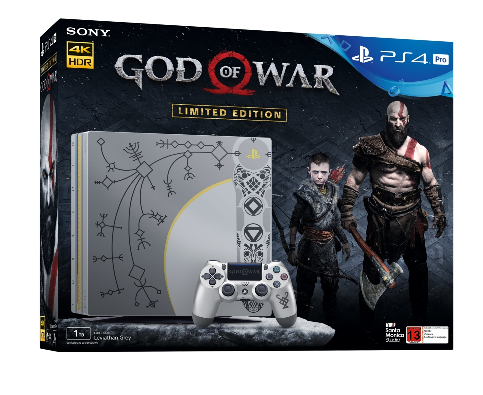 PS4 PRO 1TB God of War Limited Edition Console Bundle for PS4 image ... 478b91523d