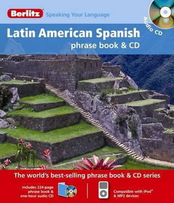 Latin American Spanish Berlitz Phrase Book and CD image