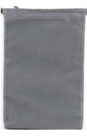 Suede Cloth Dice Bag (Large, Grey)