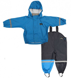 Mum 2 Mum Rain Wear Jacket and Overalls - Royal Blue (2 Years)