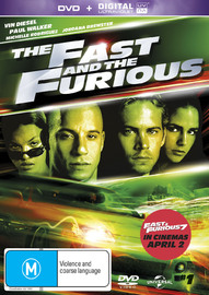 The Fast And The Furious UV on DVD