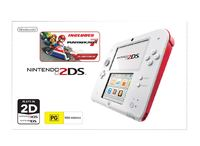 Nintendo 2DS with Mario Kart 7 (White/Red) for Nintendo 3DS
