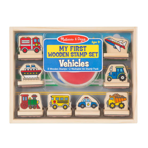 Melissa & Doug - My First Vehicles Wooden Stamps