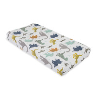 Little Unicorn - Muslin Changing Pad Cover - Dino Friends
