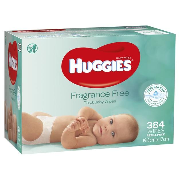 Huggies Baby Wipes - 384 pack