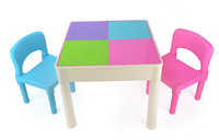 Kids Square 3-in-1 Activity Table With 2 Chairs (Pastel)