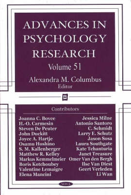 Advances in Psychology Research: Volume 51 image