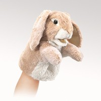 Folkmanis Hand Puppet - Little Lop Rabit