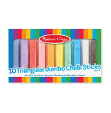 Melissa & Doug: 10 Jumbo Triangular Chalk Sticks