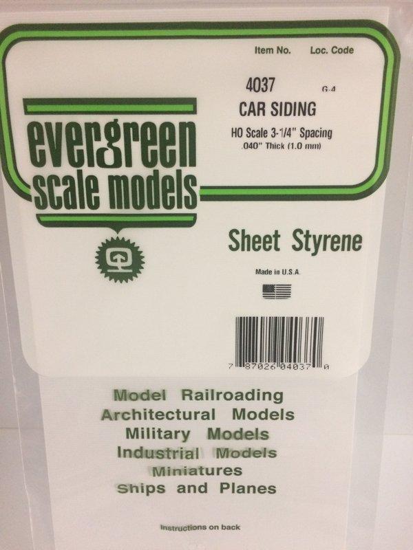 Evergreen Styrene Ho Scale Car Siding 29X15 mm X1 mm