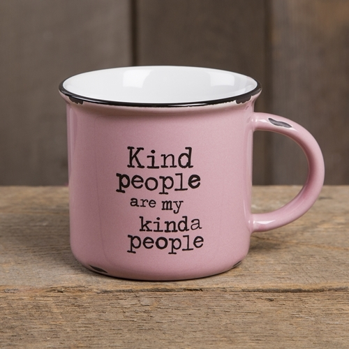 Natural Life: Camp Mug - Kind People Pink image