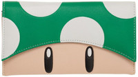 Super Mario Green Mushroom Flap Wallet