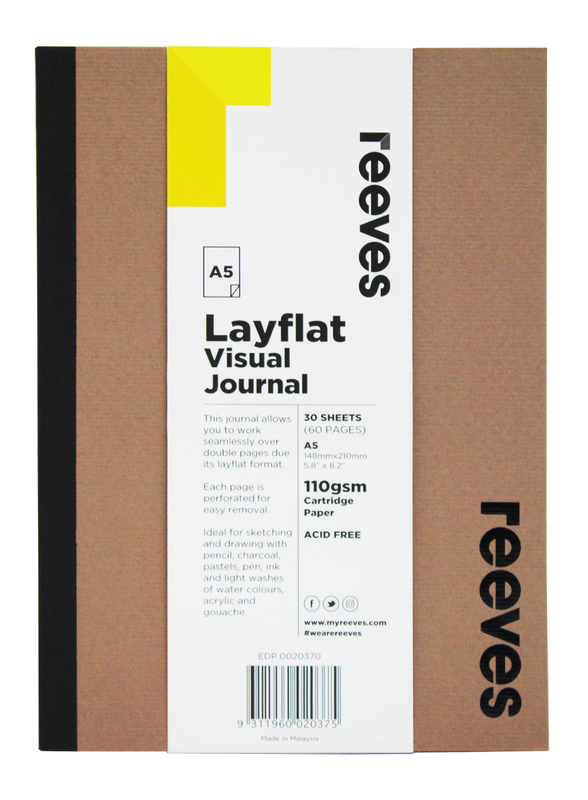 Reeves: A5 Layflat Visual Journal - Kraft Cover