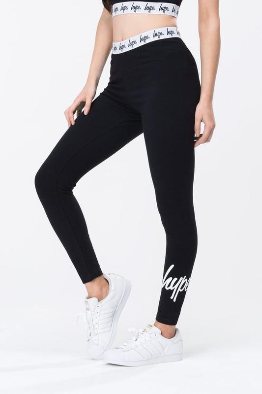 Just Hype: Taped Women's Leggings Black - 10