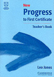 New Progress to First Certificate Teacher's Book by Leo Jones image