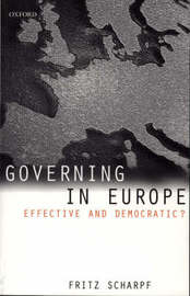Governing in Europe by Fritz W Scharpf image