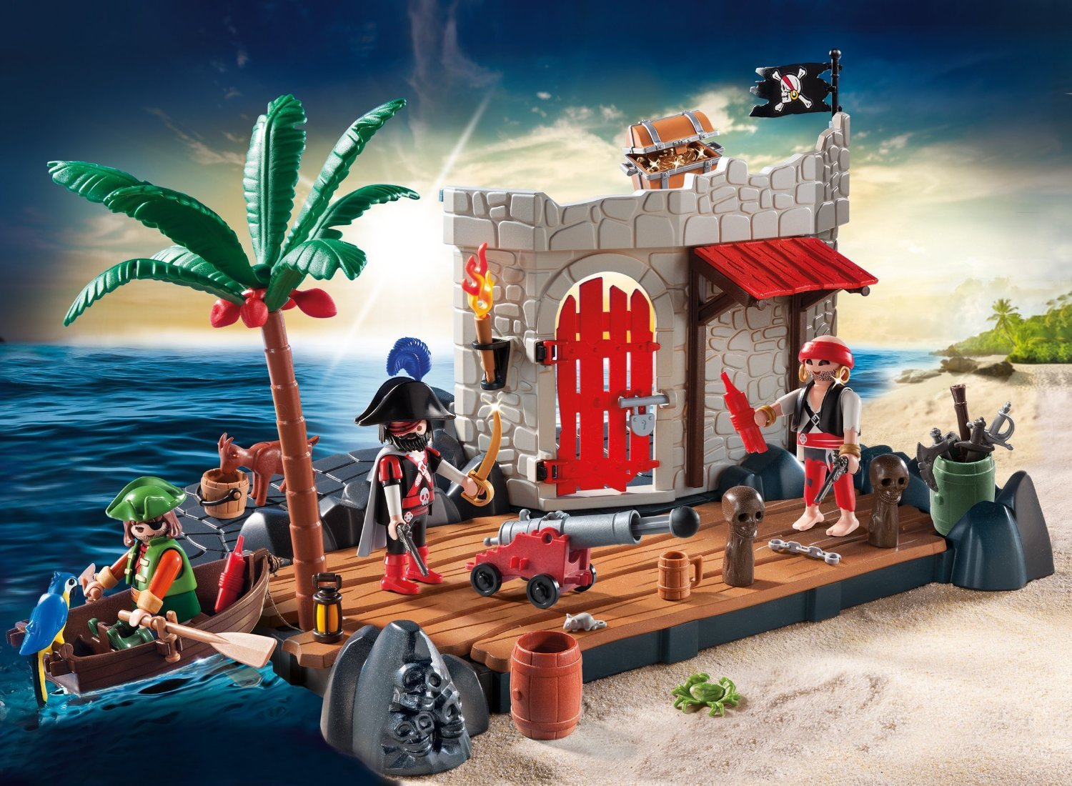 Playmobil Pirate Fort Superset 6146 Toy At Mighty