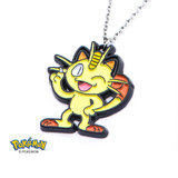 Pokemon Meowth Enamel Necklace
