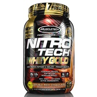 Nitrotech 100% Whey Gold - Double Rich Chocolate 2.5lb (1.13kg)