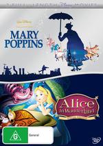 Mary Poppins / Alice In Wonderland (1951) (2 Disc Set) on DVD