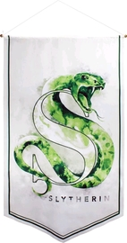 Harry Potter Watercolour Satin Banner (Slytherin)