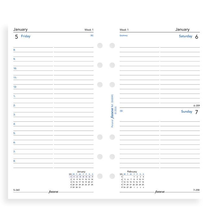 Filofax: Personal 2020 Refill - Day per Page (Lined) image
