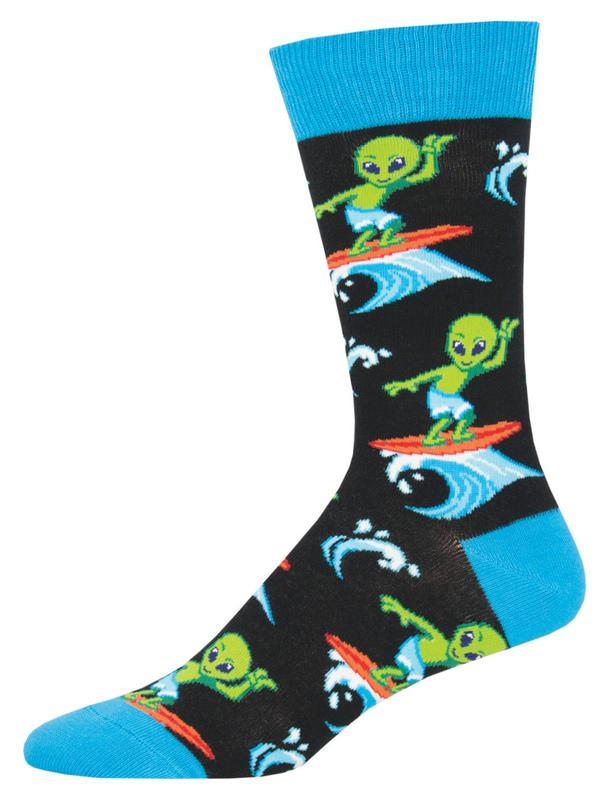 Socksmith: Mens Surfing The Galaxy - Black