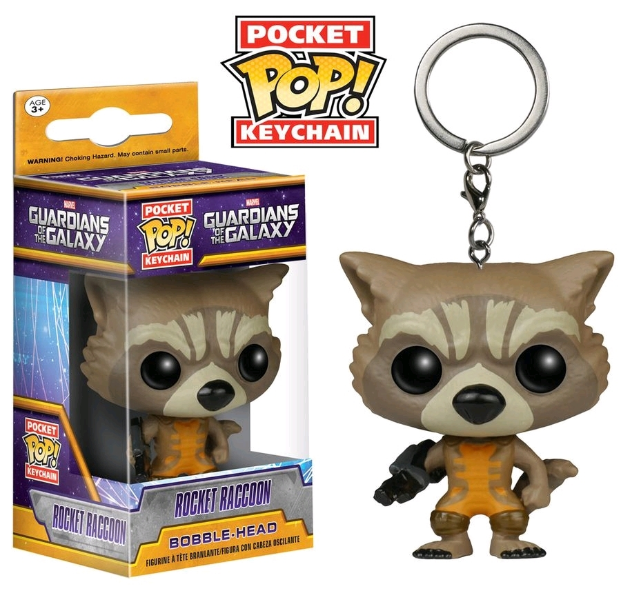 Guardians of the Galaxy - Rocket Pocket Pop! Key Chain image