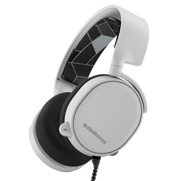 SteelSeries Arctis 3 Wired Gaming Headset (White) for PC