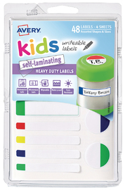 Avery: Self-Laminating Labels - Assorted