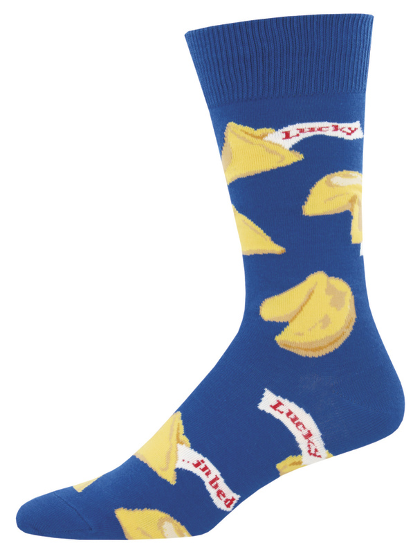 Socksmith: Men's Getting Lucky Crew Socks - Blue