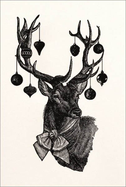 Chase & Wonder:Individual Christmas Card - Stag