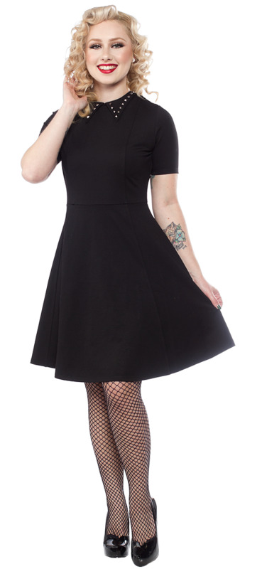 Sourpuss: Studded Dress Black (Large)