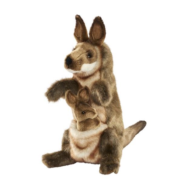 Hansa: Kangaroo & Joey - Plush Puppet (29cm)
