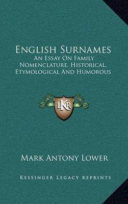 english essay etymological family historical humorous nomenclature surname