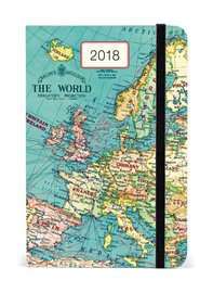 Vintage Map 2018 Year Planner